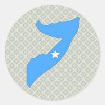 Somalia Flag Map full size Classic Round Sticker