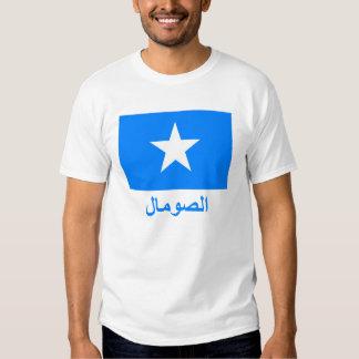 Somalia Flag with Name in Arabic Tee Shirts