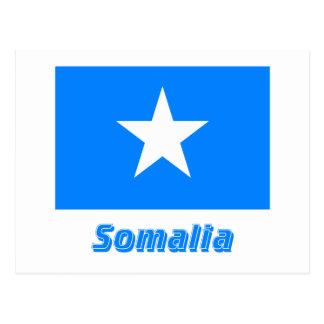 Somalia Flag with Name Postcard