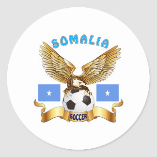 Somalia Football Designs Classic Round Sticker
