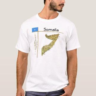 Somalia Map + Flag + Title T-Shirt