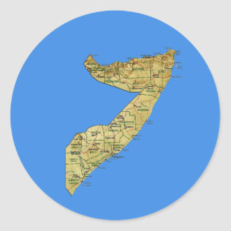 Somalia Map Sticker