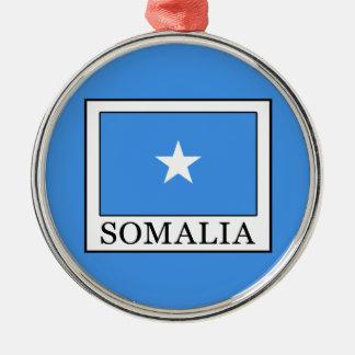 Somalia Silver-Colored Round Decoration