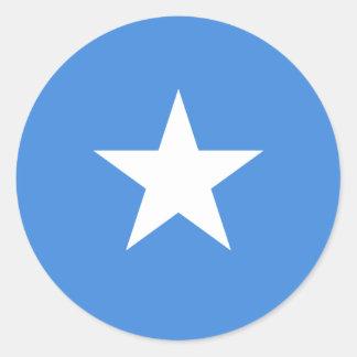 Somalia/Somali/Somalian Flag Round Sticker
