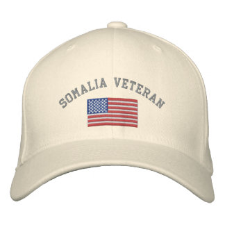 SOMALIA Vet with American Flag Embroidered Baseball Cap
