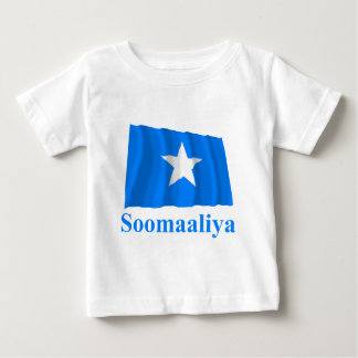 Somalia Waving Flag with Name in Somali Baby T-Shirt