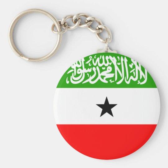 somaliland basic round button key ring