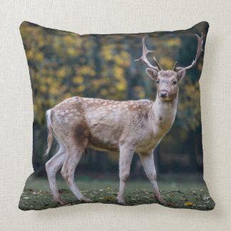 Sombre Deer Throw Pillow