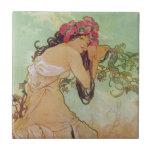 Sombre Woman Tiles