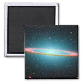 Sombrero Galaxy Square Magnet