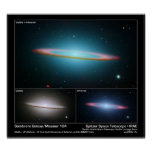 Sombrero Galaxy (Messier 104) – Space Telescope Poster