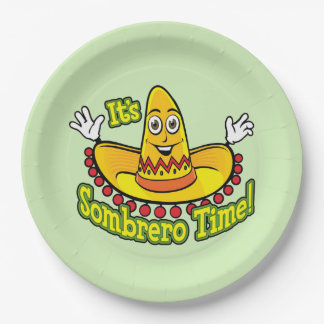 Sombrero Time! Cinco de Mayo Party Paper Plate 9 Inch Paper Plate