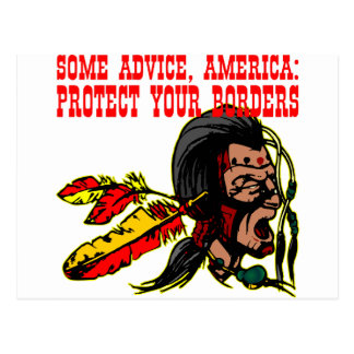 Some Advice America Protect Your Borders  #002 Postcard