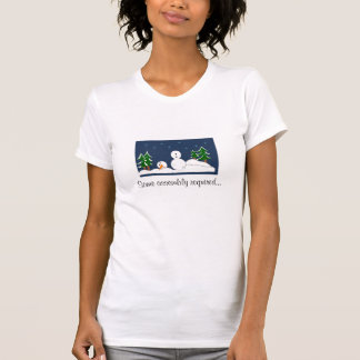 Some Assembly Required Snowman Scene T-Shirt