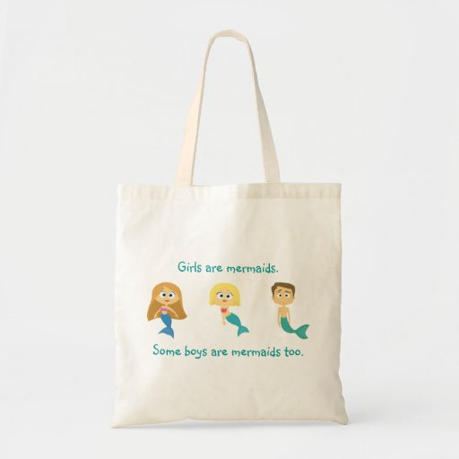 """Some Boys are Mermaids Too"" Tote Bag"