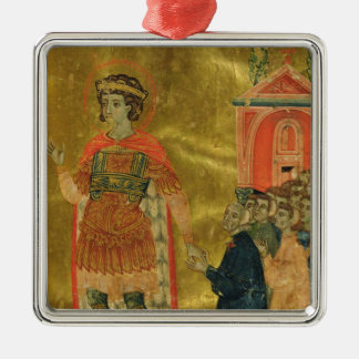 Some brothers praying to St. Theodore Christmas Ornament