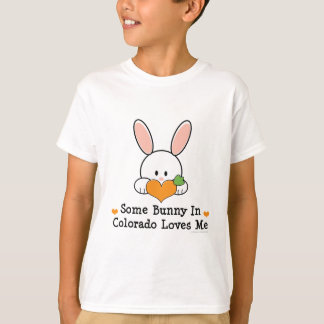 Some Bunny In Colorado Loves Me Kids T shirt