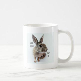 Some Bunny Loves Me Collection Rabbit Easter Basic White Mug