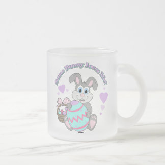 Some Bunny Loves Me! Easter Bunny Frosted Glass Mug