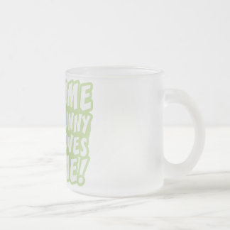 Some Bunny Loves Me Easter Frosted Glass Mug