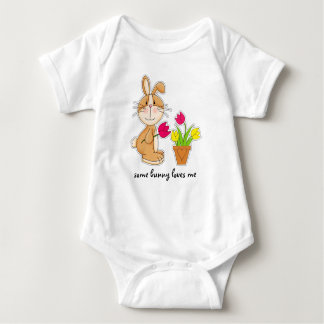 Some Bunny Loves Me. Easter Gift Baby Bodysuits
