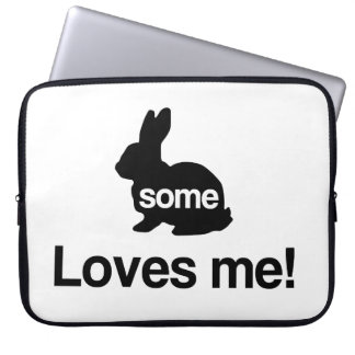 Some Bunny Loves Me Laptop Sleeve
