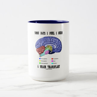 Some Days I Feel I Need A Brain Transplant Mug