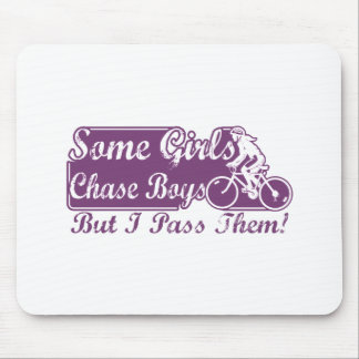Some Girls Chase Boys I Pass Them Cycling Mouse Mat