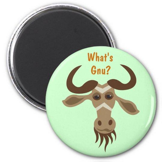Some Gnu Stuff_Gary Gnu_What's Gnu? Magnet