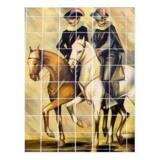 Some Kansas City Plaza Tiles With Horses Postcard