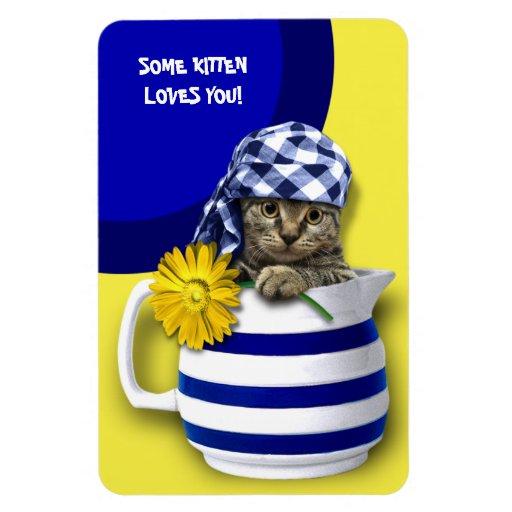 Some Kitten Loves You. Mother's Day Gift Magnet Flexible Magnets