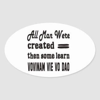 Some learn Vovinam vie vo dao. Oval Sticker