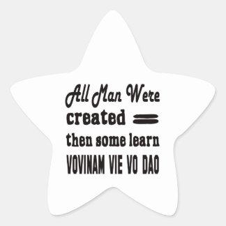 Some learn Vovinam vie vo dao. Star Sticker