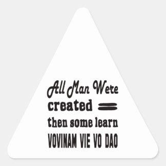 Some learn Vovinam vie vo dao. Triangle Sticker