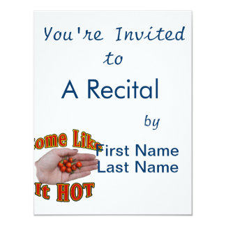 Some Like It Hot Cascabel Pepper Hand Pile 11 Cm X 14 Cm Invitation Card
