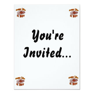 Some Like It Hot Cascabel Pepper Hand Pile 11 Cm X 14 Cm Invitation Card