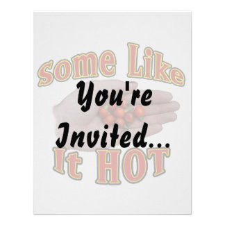 Some Like It Hot Cascabel Pepper Hand Pile Invites