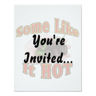 Some Like It Hot Chocolate Habanero Pepper Pile 11 Cm X 14 Cm Invitation Card