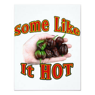 Some Like It Hot Chocolate Habanero Pepper Pile Personalized Announcements