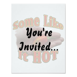 Some Like It Hot Hand One Habanero Pepper 11 Cm X 14 Cm Invitation Card
