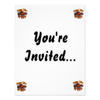 Some Like It Hot Hand One Habanero Pepper Personalized Invitation
