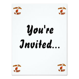 Some Like It Hot Single Habanero Pepper 11 Cm X 14 Cm Invitation Card