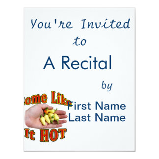 Some Like It Hot White Habanero Hand Pile 11 Cm X 14 Cm Invitation Card
