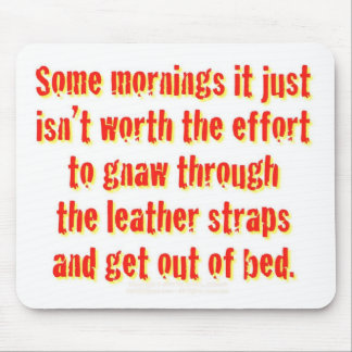 Some mornings it just isn't worth the effort... mouse pad
