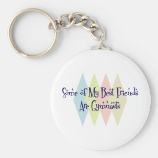 Some of My Best Friends Are Gymnasts Basic Round Button Key Ring