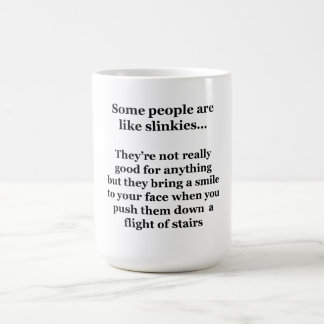 Some People Are Like Slinkies Basic White Mug