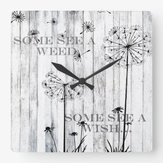 Some See A Weed Square Wall Clock