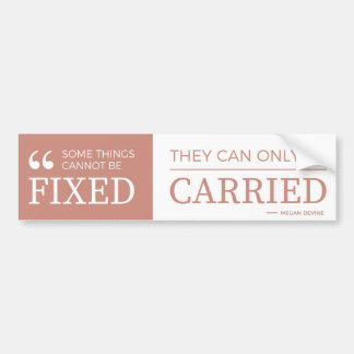 Some things cannot be fixed - bumper sticker