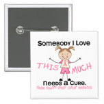 Somebody I Love - Breast Cancer (Girl) Pinback Buttons