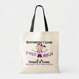 Somebody I Love - Crohns Disease (Boy) Budget Tote Bag